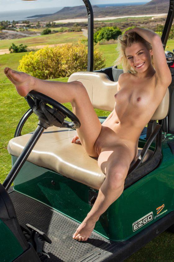 Leaya Nude In Tee Time MetArt Model Pictures